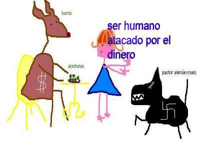Ser humano y sus ataques: Bambi y otro demonio maligno.